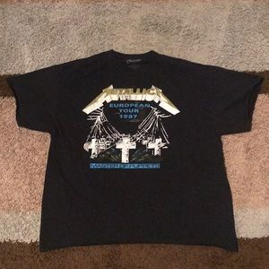 Metallica European Tour Band Tee Master of Puppets